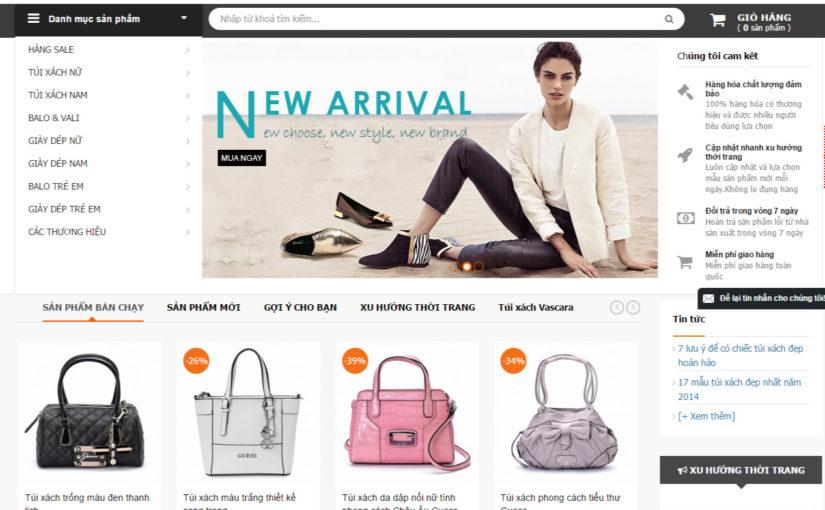 Thiết kế web bán túi xách