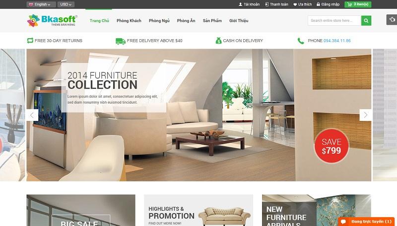 Thiết kế web kiến trúc nội thất